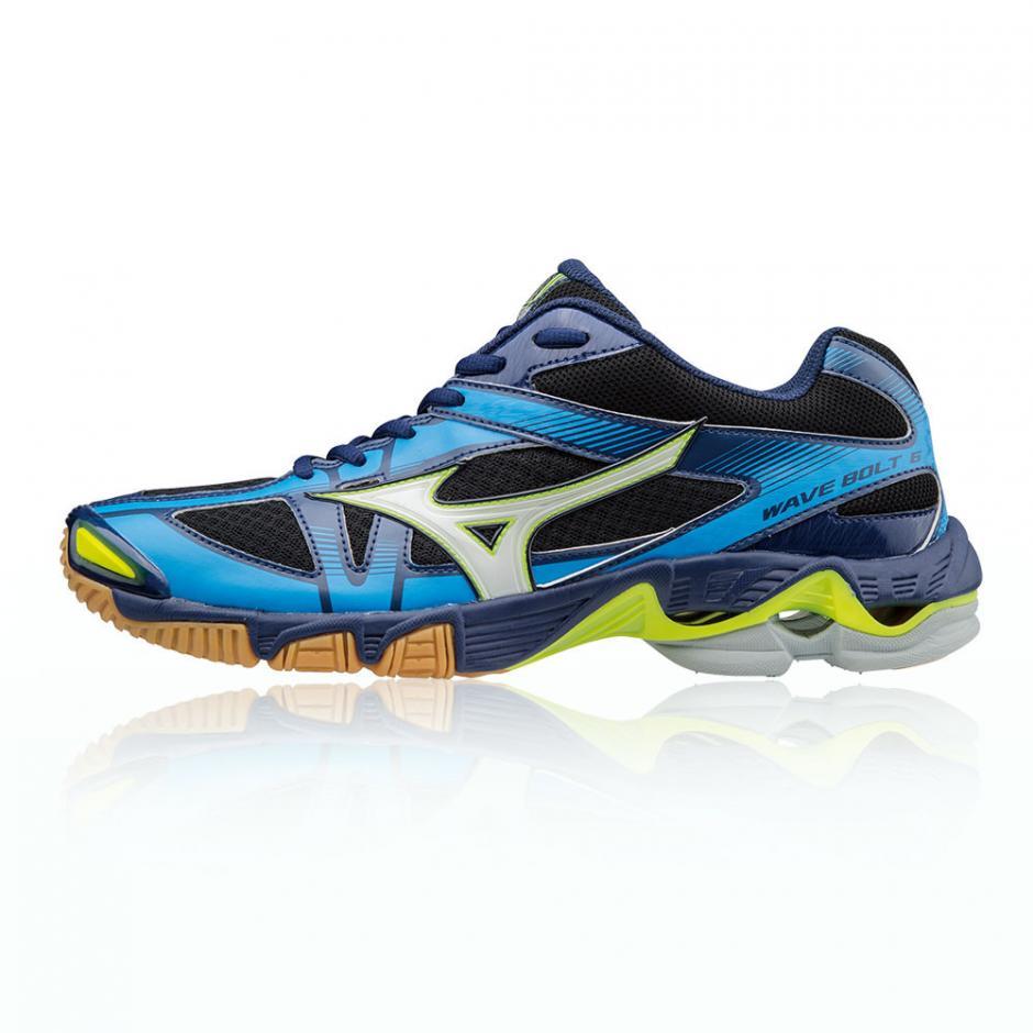 Bleu Mizuno Wave Bolt 6 Chaussures De Sport En Salle Homme