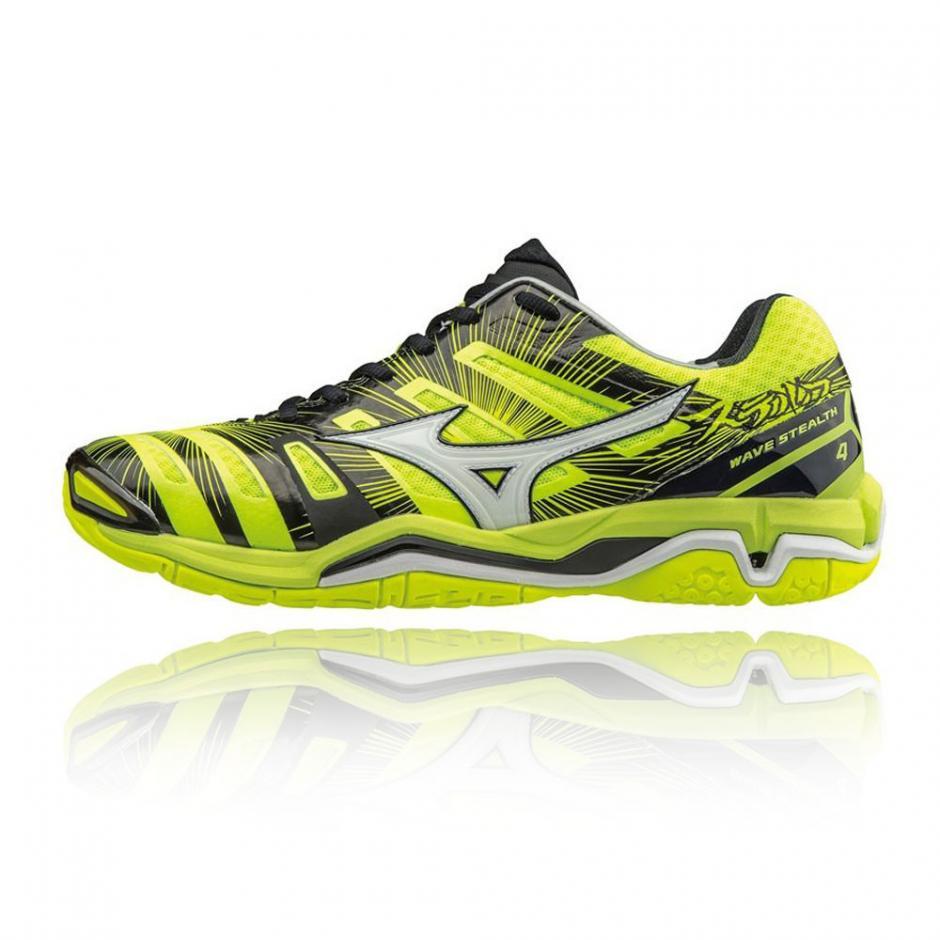 Jaune Mizuno Wave Stealth 4 Chaussures De Sport En Salle Homme