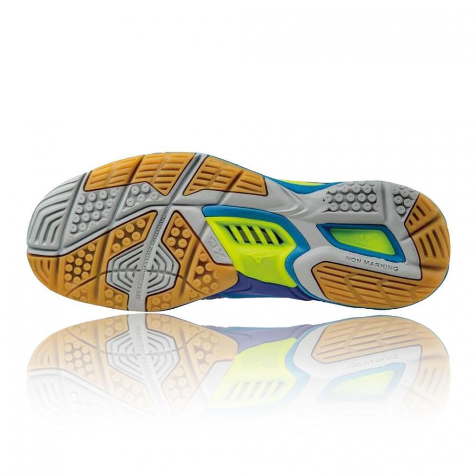 Vert Bleu Mizuno Wave Stealth 4 Chaussure De Sport En Salle